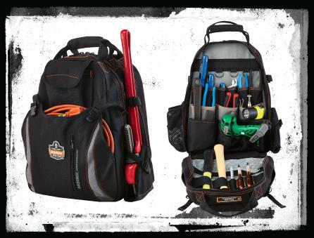 Ergodyne-Tool-Backpack-ClosedandOpen